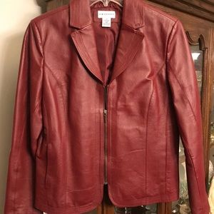 Ladies Ted Leather Jacket By Kim Rogers Small